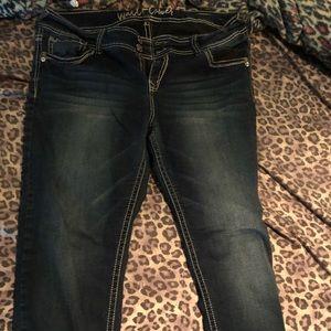 Wallflower straightleg darkwash jeans